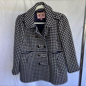 Juicy Couture Polka Dot Suit Jacket